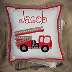 Malooshi Fire Engine Cushion Personalised Gift