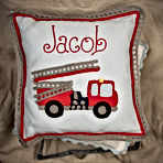 Malooshi Fire Engine Cushion Personalised Gift