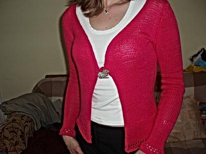 pink cardigan knitte dressmaker maidenhead berkshire