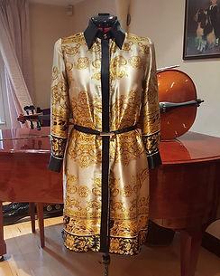 Gold Silk Dress Dressmaker Seamstress maidenhead berkshire