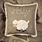 Malooshi Lamb Cushion Personalised Gift