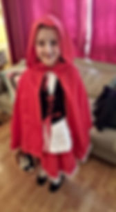 little red riding hood, world book day, dressmaker maidenhead berkshire