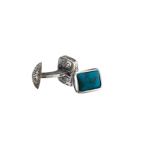 Cufflinks in Sterling Silver with Turquoise