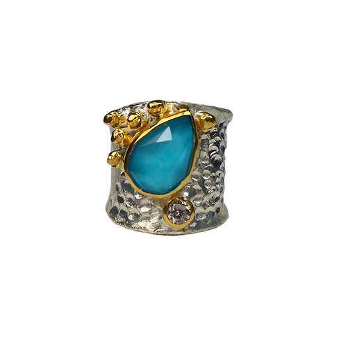 Δαχτυλίδι από ασήμι 925˚ με Αμαζονίτη