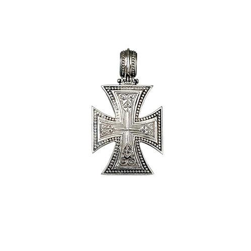 Maltese Cross in Sterling Silver