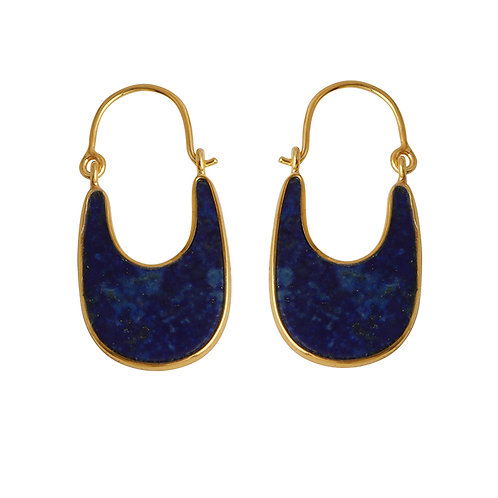 Earrings in Sterling Silver with Lapis