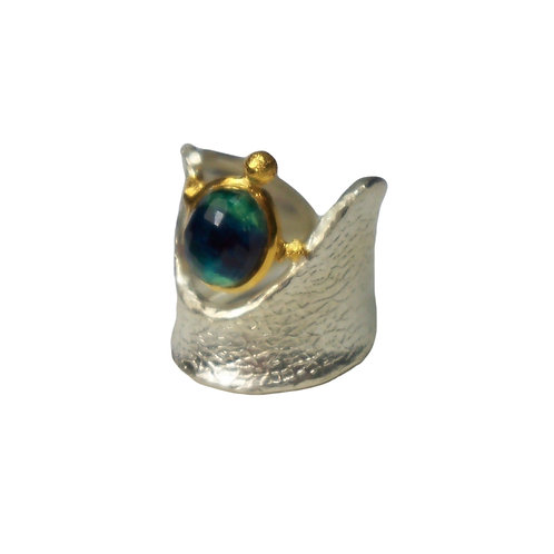 Ring in Sterling Silver with Doublet Stone