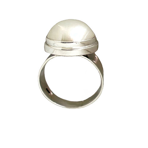Ring in Sterling Silver with Pearl