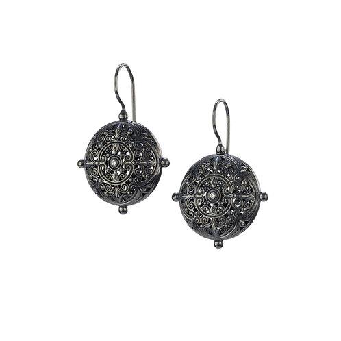 Σκουλαρίκια από ασήμι 925˚ με Ζιργκόν