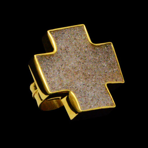 Δαχτυλίδι από ασήμι 925˚ με Γκρι Αχάτη