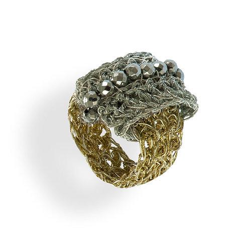 Δαχτυλίδι από ασημένιο σύρμα