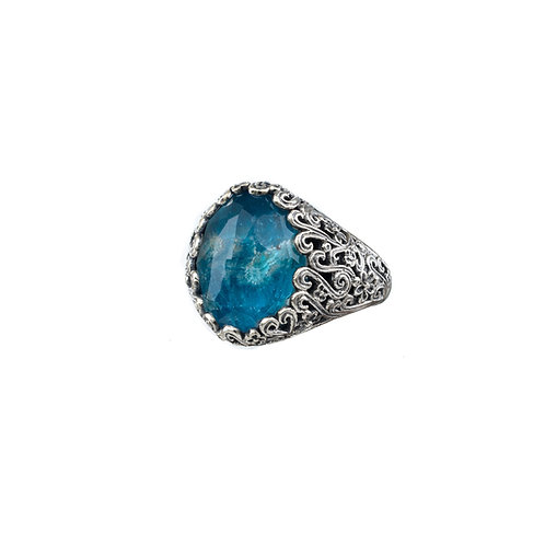Ring in Sterling Silver with Doublet Stones