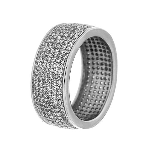 Ολόβερο δαχτυλίδι από ασήμι 925˚ με Ζιρκόν