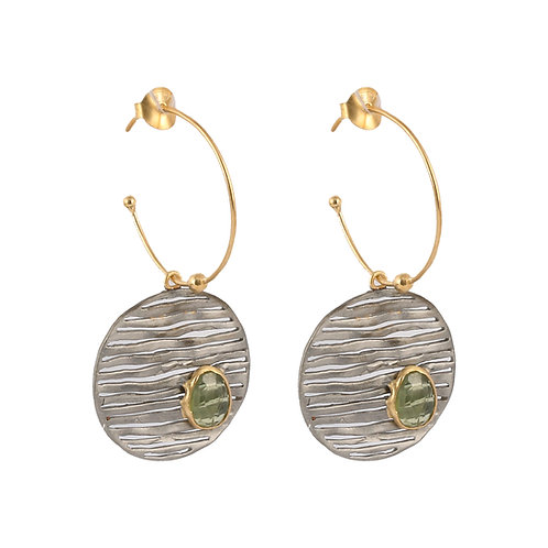 Earrings in Sterling Silver with Tourmalines