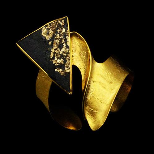 Bracelet in Sterling Silver with Obsidian
