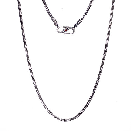 Chain in Sterling Silver with Ruby