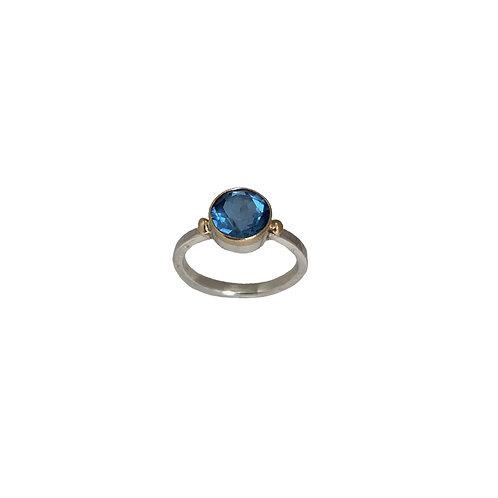 Δαχτυλίδι από χρυσό 18Κ και ασήμι 925˚