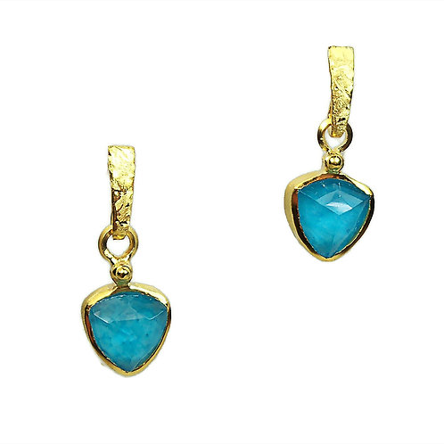 Earrings in Gold plated Sterling Silver with Turquoise