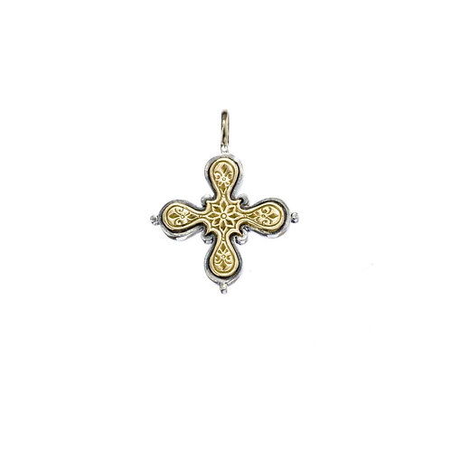 Cross in 18K Gold and Sterling Silver