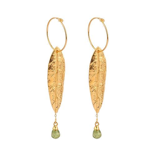 Earrings in Sterling Silver with Peridot