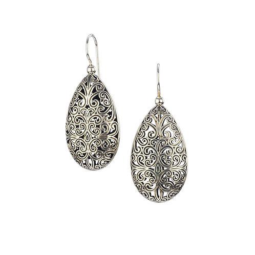 Earrings in Oxidised Sterling Silver