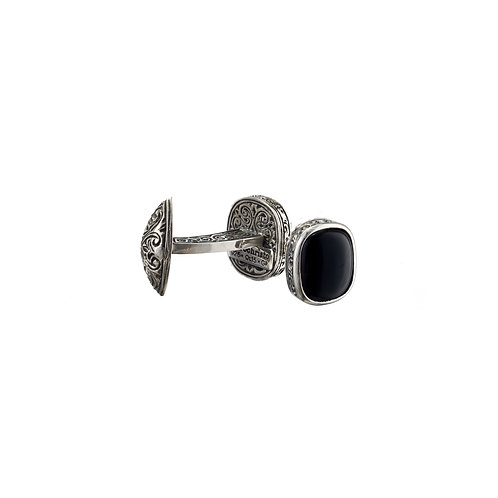 Cufflinks in Sterling Silver with Black Onyx