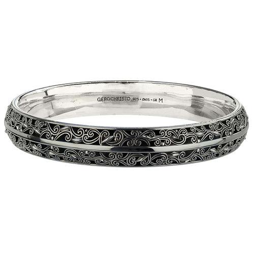 Bracelet in Black Plated Sterling Silver