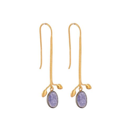 Earrings in Sterling Silver with Amethyst