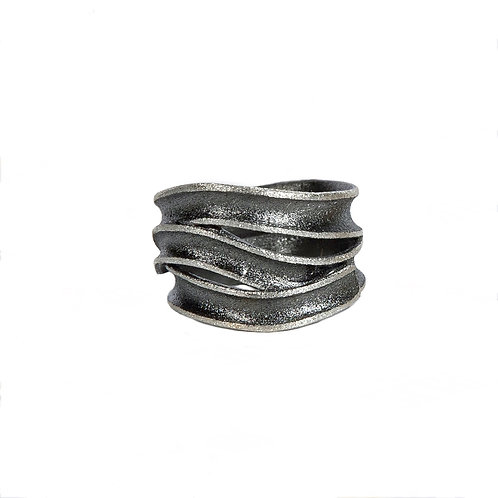 Δαχτυλίδι από οξειδωμένο ασήμι 925˚