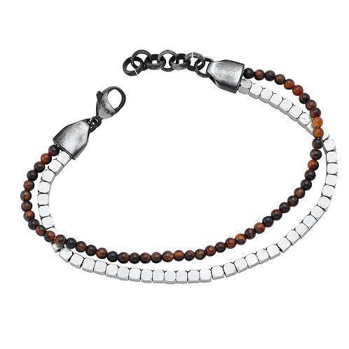 Double Bracelet in Stainless Steel
