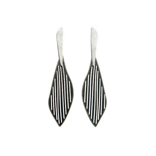 Earrings in Black Rhodium Sterling Silver