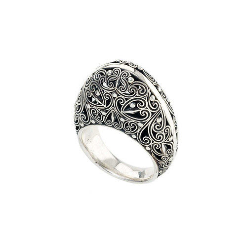 Ring in Oxidised Sterling Silver
