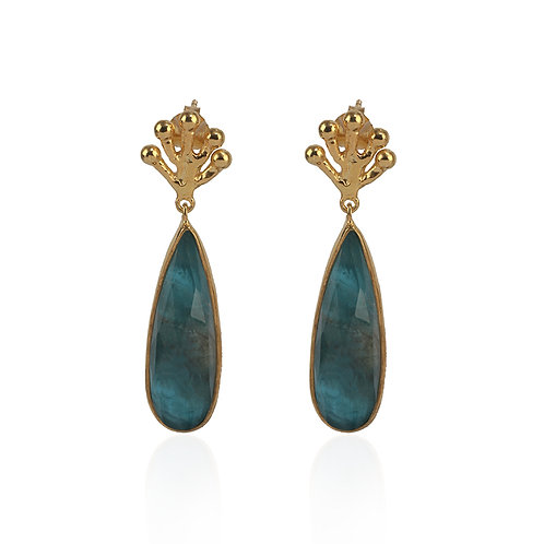 Earrings in Sterling Silver with Apatite