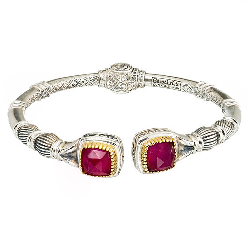 Bracelet in 18K Gold and Sterling Silver with Doublet Stones