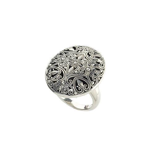 Δαχτυλίδι οβάλ από οξειδωμένο ασήμι 925˚