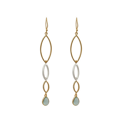 Earrings in Sterling Silver with Chalcedony