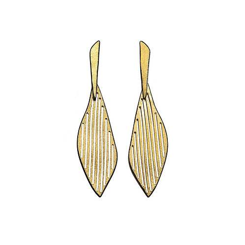 Earrings in Black Rhodium and Gold plated Sterling Silver