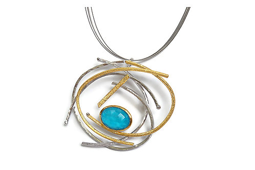 Necklace in Sterling Silver with Turquoise