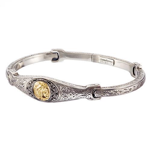 Bracelet in 18K Gold and Sterling Silver