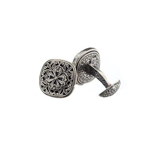 Byzantine cufflinks in Sterling Silver