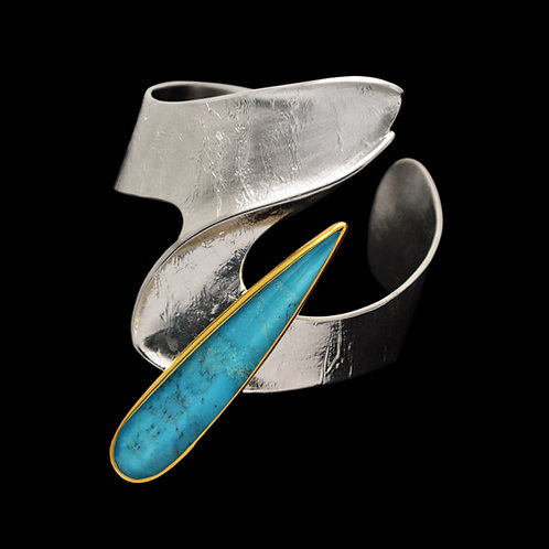 Bracelet in Sterling Silver with Turquoise