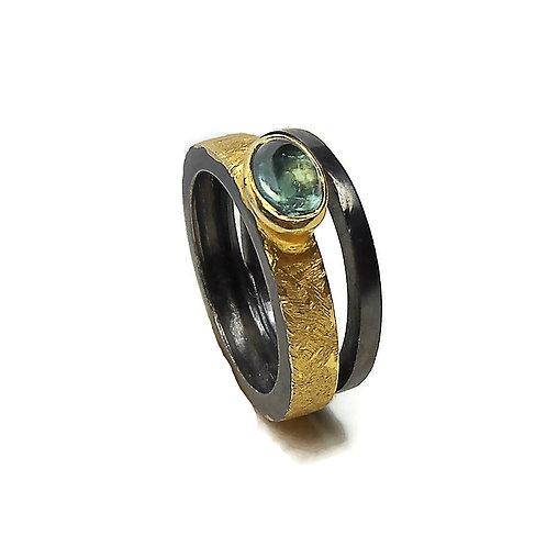 Δαχτυλίδι από ασήμι 925˚ με Τουρμαλίνη