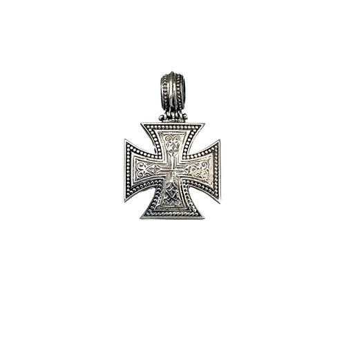 Maltese Cross in Sterling Silver