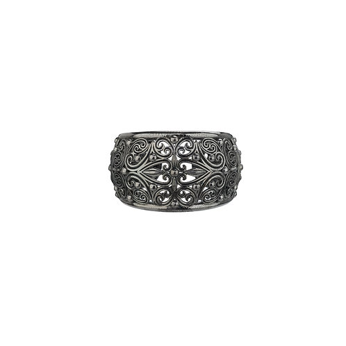 Ring in Black Plated Sterling Silver