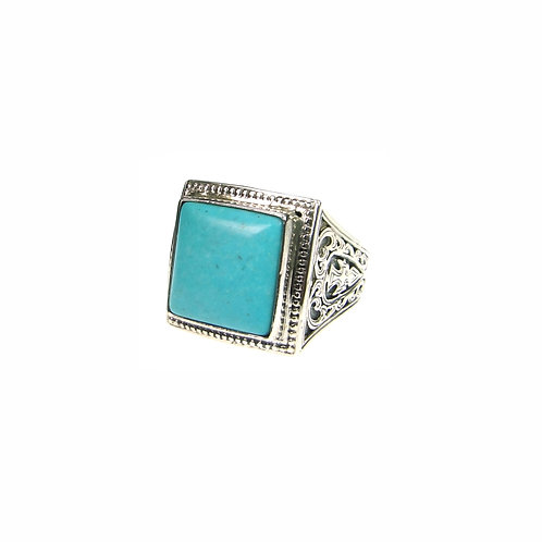 Ring in Sterling Silver with Turquoise