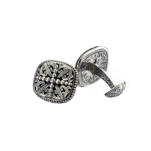 Byzantine cufflinks in Sterling Silver