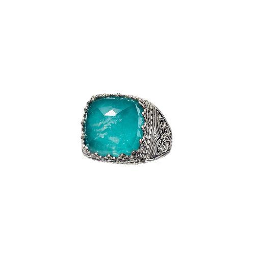 Δαχτυλίδι από ασήμι 925˚ με Ντουμπλέτα