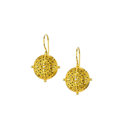Earrings in Gold Plated Sterling Silver with Zircon