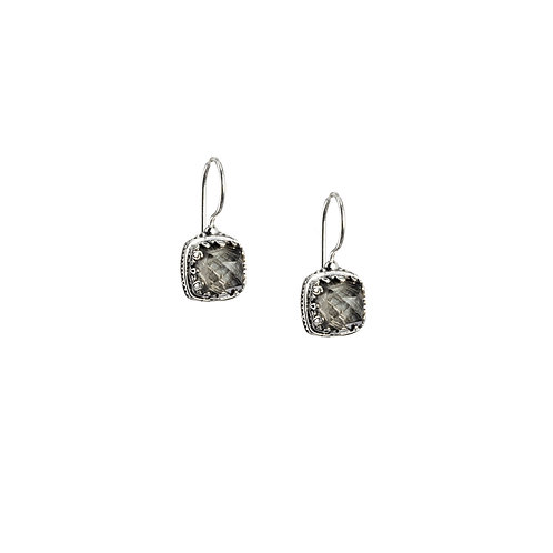Earrings in Sterling Silver with Doublet Stones