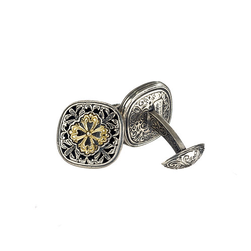 Cufflinks in 18K Gold and Sterling Silver